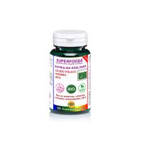 espirulina bio con acido folico hierro y b12 90 comp