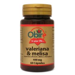 VALERIANA Y MELISA 400MG 60CAPS