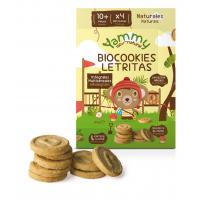 galletas biocookies mini letras 150 gr y 10meses