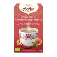 yogi tea energia positiva arandanos rojos hibisco bio 17 bolsitas