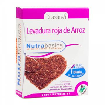 LEVADURA ROJA DE ARROZ 30 CAPS NUTRABASICS DRASANVI