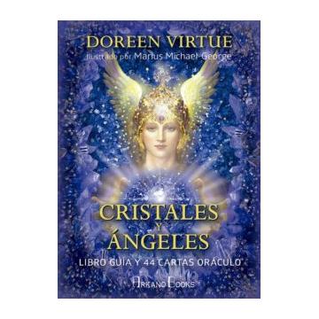 CRISTALES Y ANGELES: LIBRO GUIA Y 44 CARTAS ORACULO (edición en ) DOREEN VIRTUE
