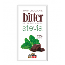 CHOCOLATE BITTER CON STEVIA 72% CACAO CHOCOLATES SOLE 100 GR