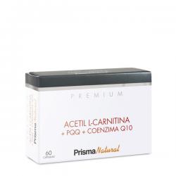 Prisma Natural Premium Acetil L-carnitina+pqq+coenzima Q10 60 Caps